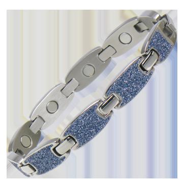 Caribbean Ocean Magnetic Bracelet in Silver