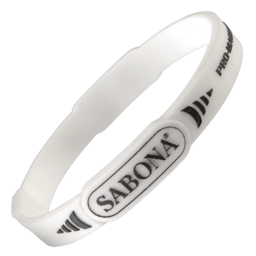 Pro-Magnetic Sport White Wristband