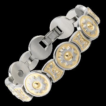 Round Flower Duet Magnetic Bracelet