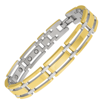 Executive Gold Link Magnetic Bracelet
