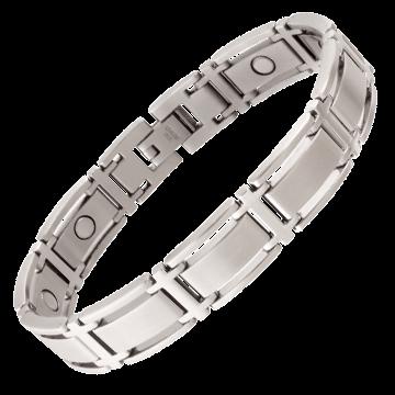 Executive Symmetry Silver Magnetic Bracelet