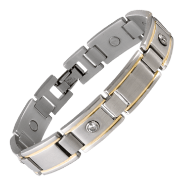 Men's Executive Gem Duet Magnetic Bracelet