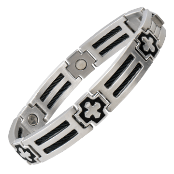 Cross Cable Stainless Magnetic Bracelet