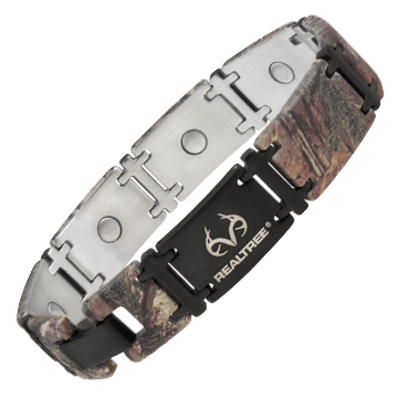 REALTREE® Camo Black Magnum Magnetic Bracelet