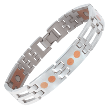 Stainless/Copper Link Magnetic Bracelet