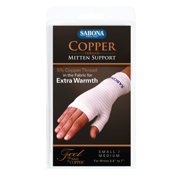 Copper Thread Mitten Support