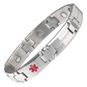 Men's Magnetic Med ID Bracelet - Diabetic
