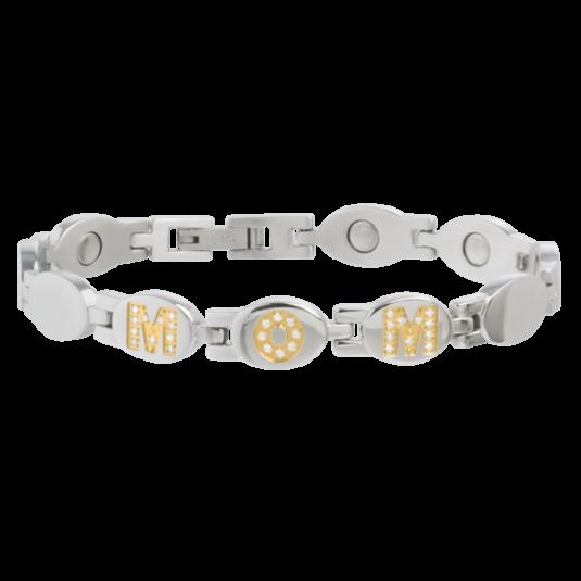 Lady Quatro Black Gem Magnetic Bracelet