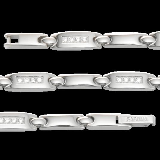 Lady Quatro Clear Gem Magnetic Bracelet