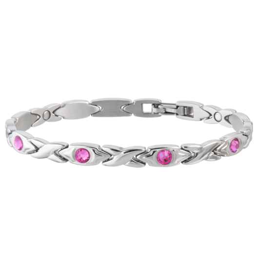 Courageous Pink Ribbon Magnetic Bracelet