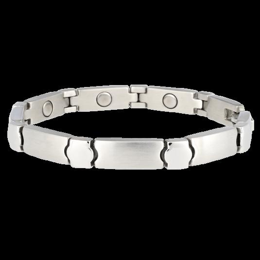 Stainless Elegance Magnetic Bracelet