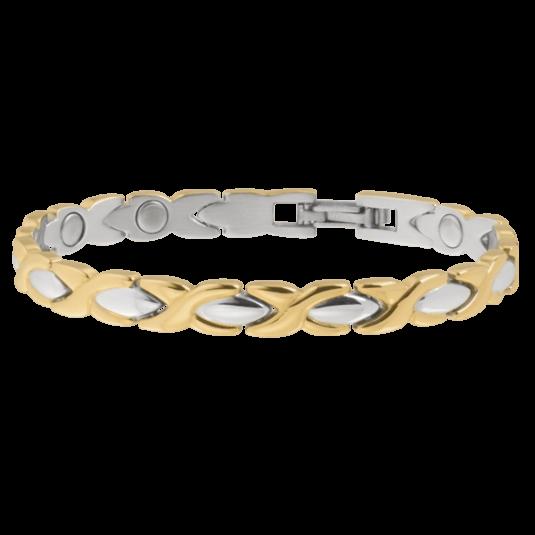 Lady Executive Dress Gold Duet Magnetic Bracelet