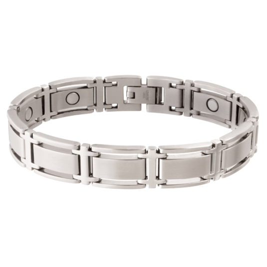 Executive Symmetry Silver Magnetic Bracelet