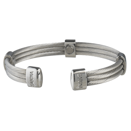 Trio Cable Stainless Magnetic Bracelet