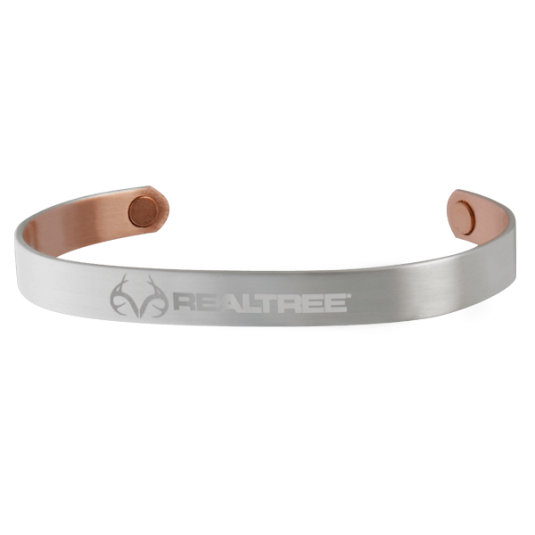 REALTREE® Brushed Silver Plated Copper Wristband