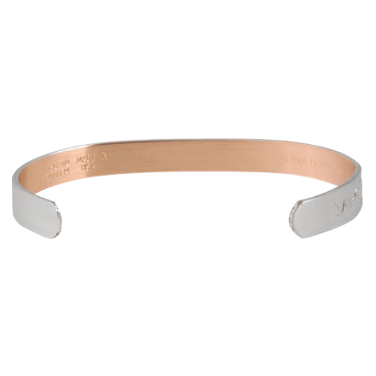 Brushed Silver Original Copper Magnetic Bracelet, back