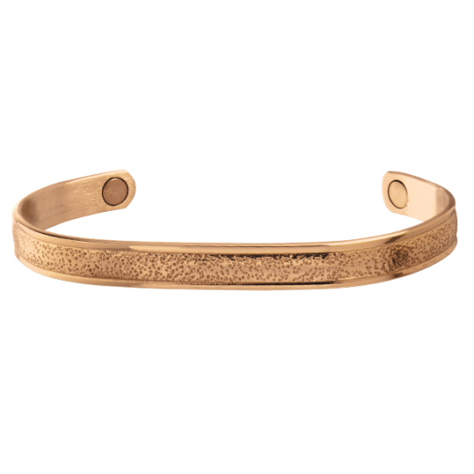 Pebbled Copper Magnetic Bracelet