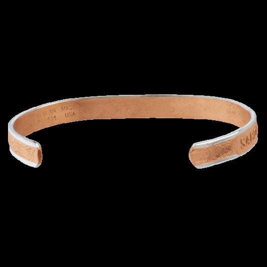 Pebbled Horizon Magnetic Wristband, back