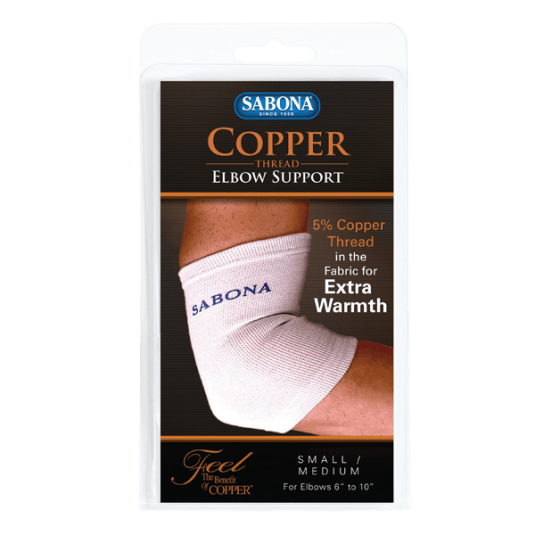 Copper Thread Elbow Support