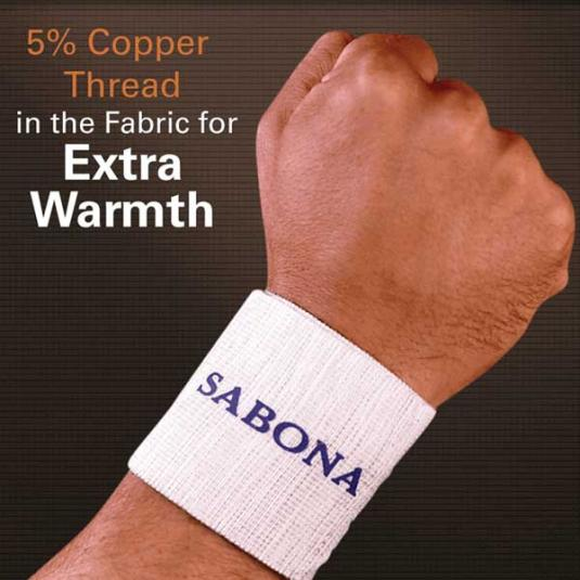 Copper Thread Wrist Support, package closeup