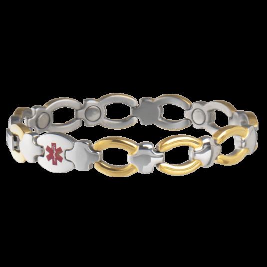 Ladies' Magnetic Med Id Bracelet - Diabetic