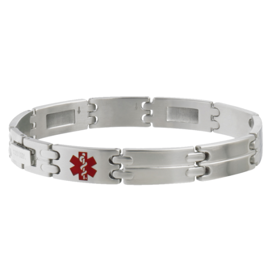 Stainless MyConditions Medical ID Bracelet